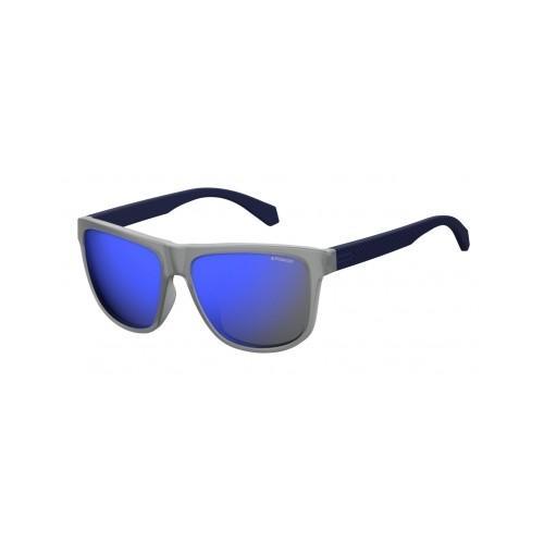Polaroid Okulary przeciwsłoneczne męskie PLD 2057 - szary, polaryzacja