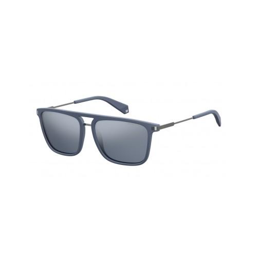 Polaroid Okulary przeciwsłoneczne męskie PLD 2060 FLL- szary, polaryzacja