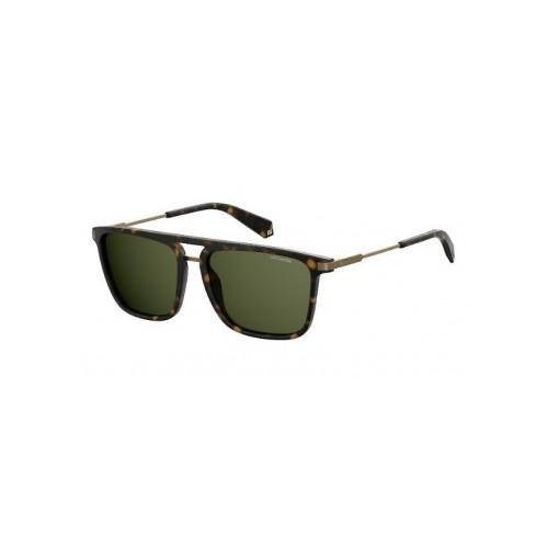 Polaroid Okulary przeciwsłoneczne męskie PLD 2060 N9P- brązowy, polaryzacja