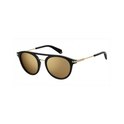 Polaroid Okulary przeciwsłoneczne męskie, damskie PLD 2061 BSC- czarny, złoty, polaryzacja