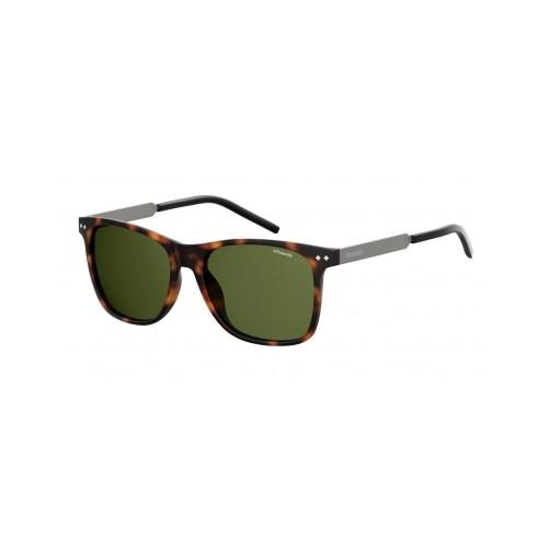 Polaroid Okulary przeciwsłoneczne męskie PLD 2063 N9P - brązowy, polaryzacja