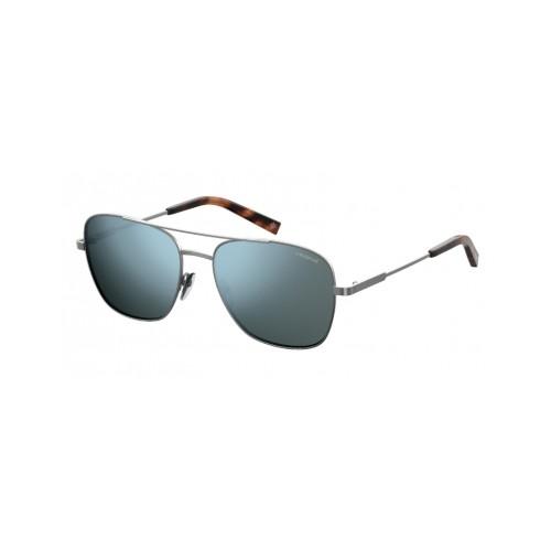 Polaroid Okulary przeciwsłoneczne męskie PLD 2068SX 6LB - srebrny, polaryzacja