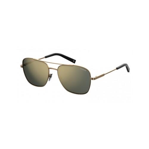 Polaroid Okulary przeciwsłoneczne męskie PLD 2068SX J7D - złoty, polaryzacja