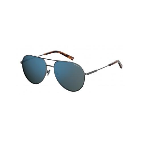 Polaroid Okulary przeciwsłoneczne męskie PLD 2069FSX 6LB - srebrny, polaryzacja