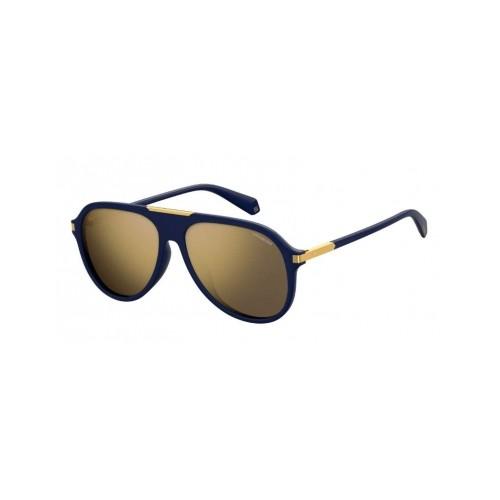 Polaroid Okulary przeciwsłoneczne męskie PLD 2071GSX PJP - czarny, złoty, polaryzacja