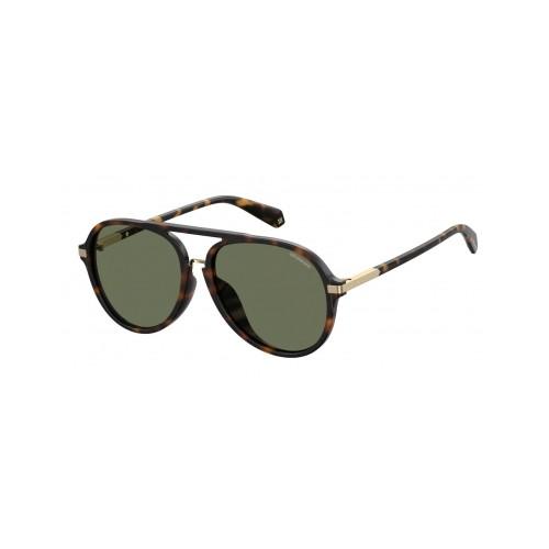 Polaroid Okulary przeciwsłoneczne męskie PLD 2077F 086 - brązowy, polaryzacja
