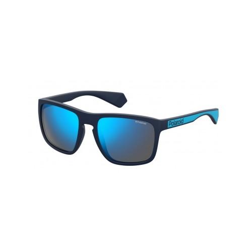 Polaroid Okulary przeciwsłoneczne męskie PLD 2079 FLL - niebieski, polaryzacja