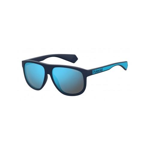 Polaroid Okulary przeciwsłoneczne męskie PLD 2080 FLL - niebieski, polaryzacja