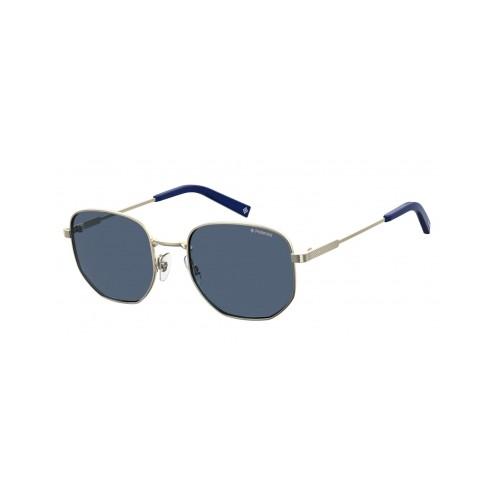 Polaroid Okulary przeciwsłoneczne męskie PLD 2081X 3YG - srebrny, polaryzacja