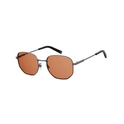 Polaroid Okulary przeciwsłoneczne męskie PLD 2081X 6LB - srebrny, polaryzacja