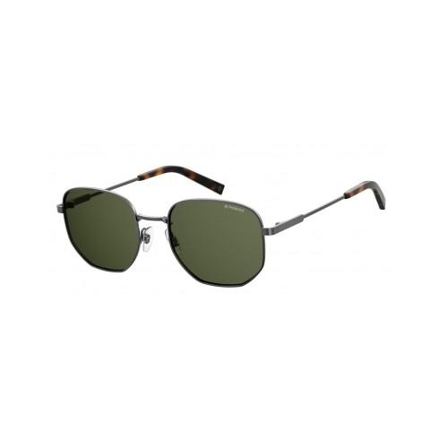 Polaroid Okulary przeciwsłoneczne męskie PLD 2081X KJ1 - srebrny, polaryzacja