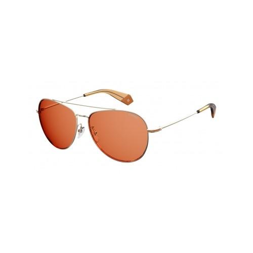 Polaroid Okulary przeciwsłoneczne męskie/damskie PLD 2083G 3YG- złoty, polaryzacja