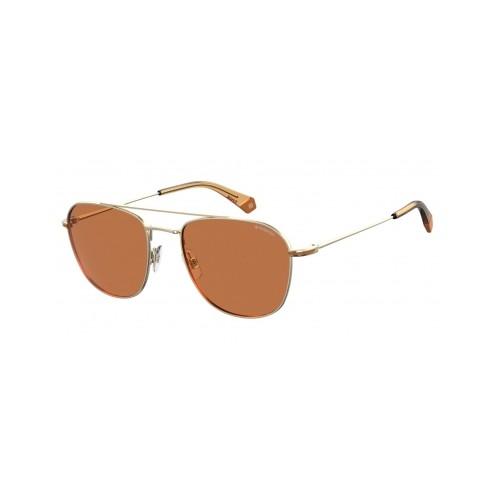 Polaroid Okulary przeciwsłoneczne męskie/damskie PLD 2084G 3YG- złoty, polaryzacja