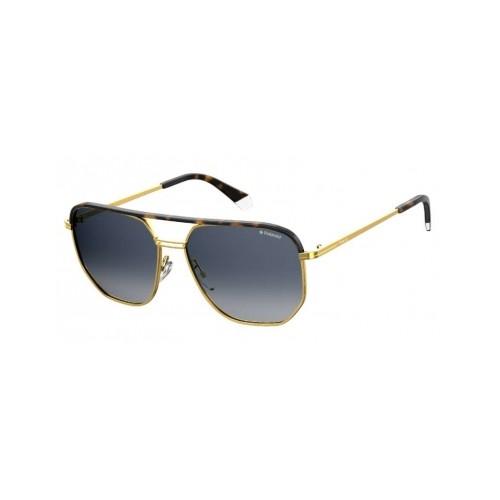 Polaroid Okulary przeciwsłoneczne męskie/damskie PLD 2090SX H8D- złoty, polaryzacja