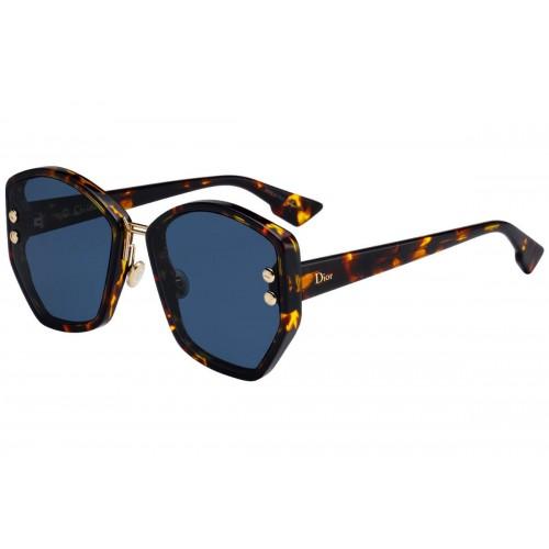 DIOR Okulary przeciwsłoneczne damskie Addict 2 - brązowy, filtr UV 400