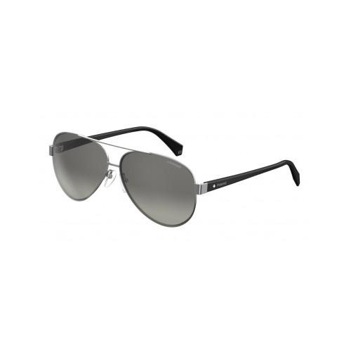 Polaroid Okulary przeciwsłoneczne męskie, damskie PLD 4061 6LB - srebrny, czarny,polaryzacja