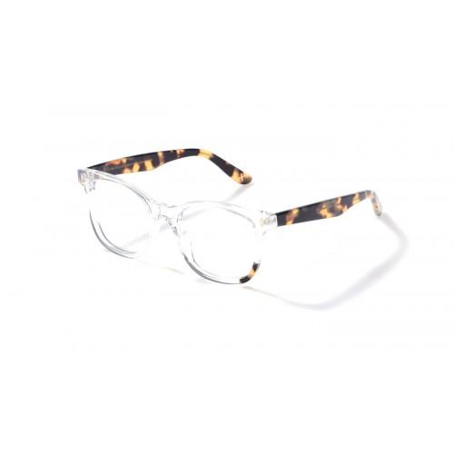 JPLUS Okulary korekcyjne damskie Alex 2107-03 - transparentny, szylkret