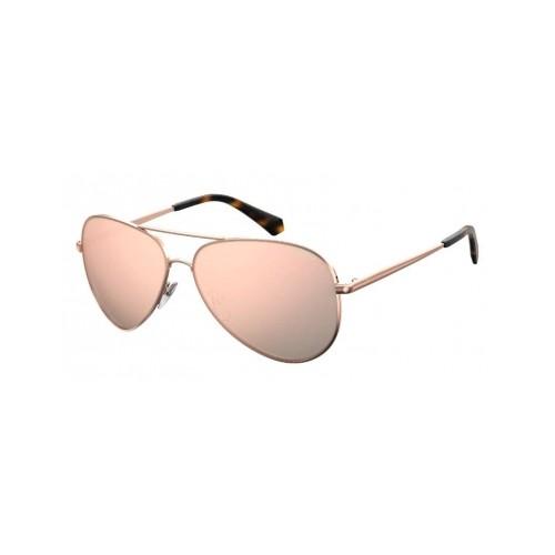 Polaroid Okulary przeciwsłoneczne męskie/damskie PLD 612NNEW DDB- złoty, polaryzacja