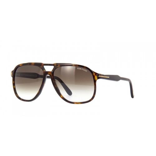 Tom Ford Okulary przeciwsłoneczne męskie FT0753 52K - brązowy