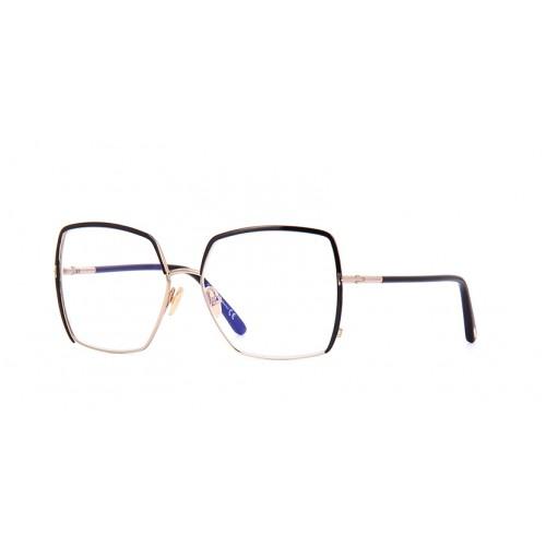 Tom Ford Okulary korekcyjne damskie TF5668-B 001 - złoty, czarny