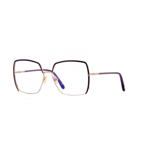 Tom Ford Okulary korekcyjne damskie TF5668-B 081 - złoty, fioletowy