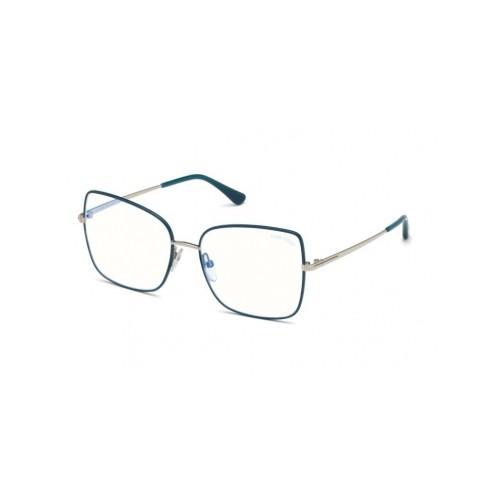 Tom Ford Okulary korekcyjne damskie TF5613-B 098 - srebrny, niebieski