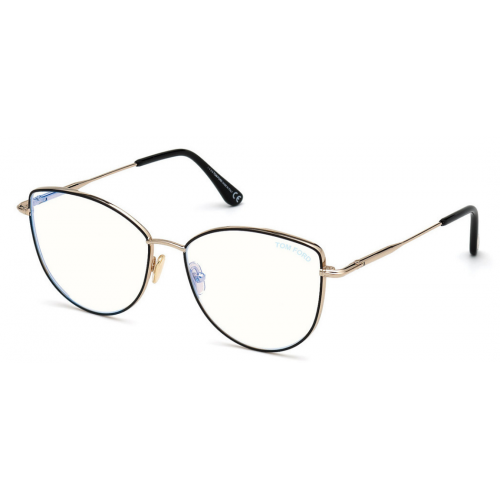 Tom Ford Okulary korekcyjne damskie TF5667-B 005 - złoty, czarny