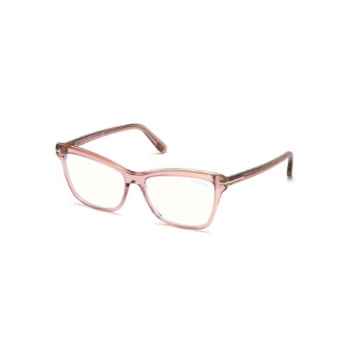 Tom Ford Okulary korekcyjne damskie FT5619-B 072 - różowy