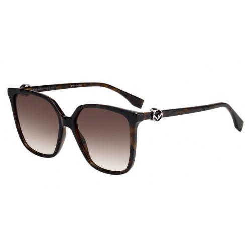Fendi Okulary przeciwsłoneczne damskie FF0318/S 086HA - brązowy