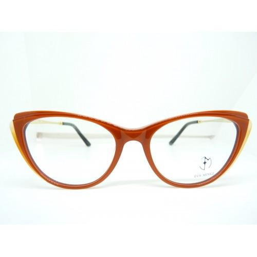 Eva Minge Oprawa okularowa damska EM11915 C2- pomarańczowy