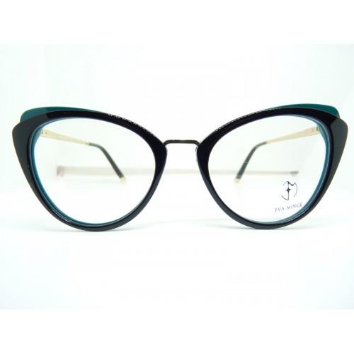 Eva Minge Oprawa okularowa damska EM11911 C3- czarny, zielony