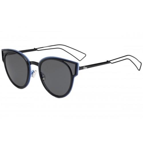 DIOR Okulary przeciwsłoneczne damskie Sculpt 006- czarny, niebieski, filtr UV 400