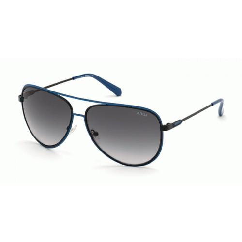 GUESS Okulary przeciwsłoneczne damskie/męskie GU6959 6305B - granatowy, filtr UV400
