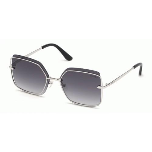 GUESS Okulary przeciwsłoneczne damskie GU7618 5910B - srebrny, filtr UV400