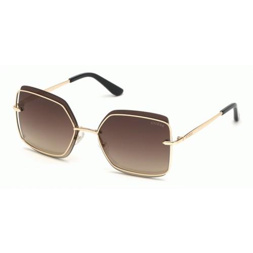 GUESS Okulary przeciwsłoneczne damskie GU7618 5932G - złoty, filtr UV400