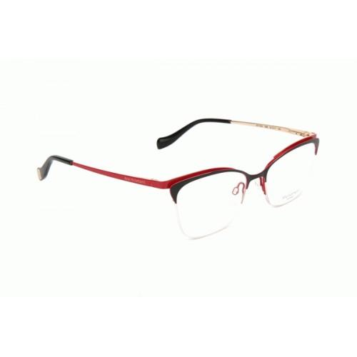 Ana Hickmann Oprawa okularowa damska AH1354 09B - czarny, czerwony