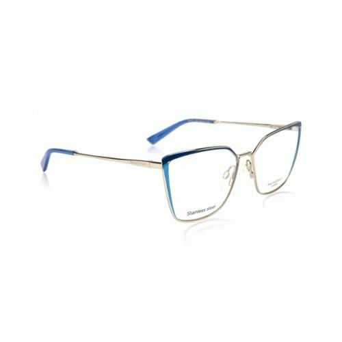 Ana Hickmann Oprawa okularowa damska AH1373 04H - srebrny, niebieski