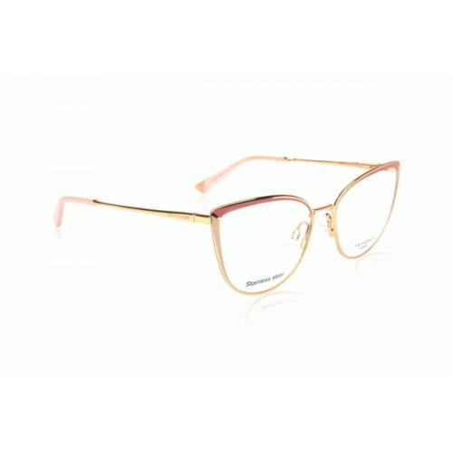 Ana Hickmann Oprawa okularowa damska AH1374 04F - złoty, różowy