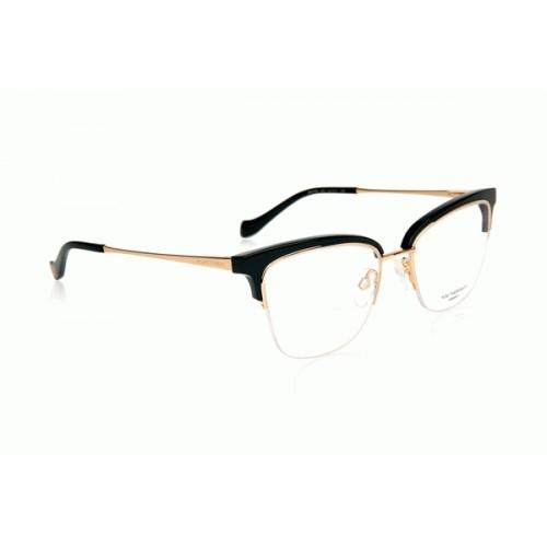 Ana Hickmann Oprawa okularowa damska AH1378 A01 - złoty, czarny