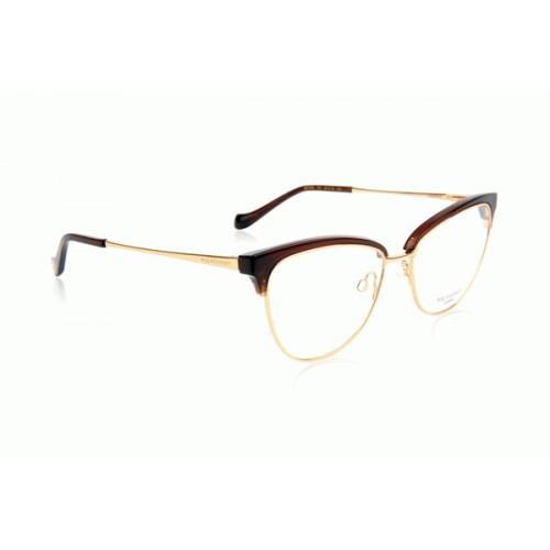 Ana Hickmann Oprawa okularowa damska AH1379 TO1 - brązowy, złoty