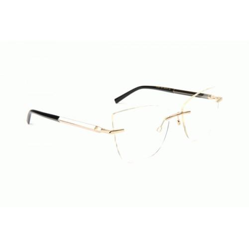 Ana Hickmann Oprawa okularowa damska AH1384 04A - złoty, różowy