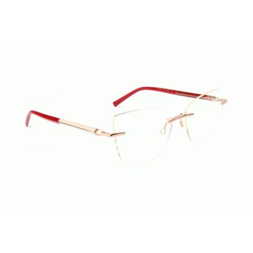 Ana Hickmann Oprawa okularowa damska AH1384 05A - złoty, czerwony