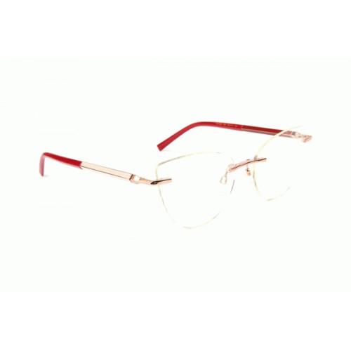 Ana Hickmann Oprawa okularowa damska AH1389 05A - złoty, czerwony