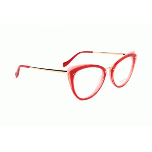 Ana Hickmann Oprawa okularowa damska AH6326 H03 - czerwony, złoty