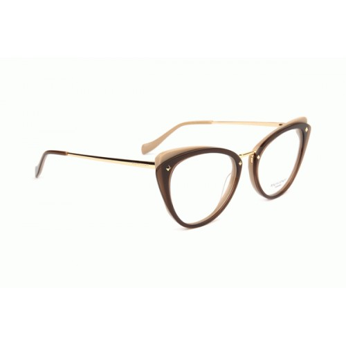 Ana Hickmann Okulary korekcyjne damskie AH6326 H04 - brązowy, złoty