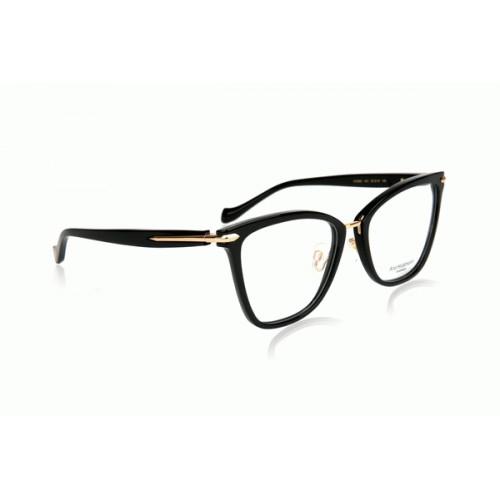 Ana Hickmann Oprawa okularowa damska AH6363 A01 - czarny, złoty