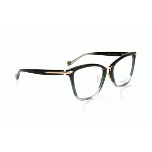 Ana Hickmann Oprawa okularowa damska AH6363 C04 - czarny, złoty