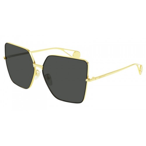 Gucci Okulary przeciwsłoneczne damskie Gucci GG0436S 002 - złoty