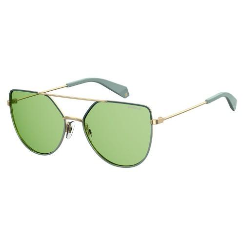 Polaroid Okulary przeciwsłoneczne damskie PLD 6057 1EDUC - złoty, zielony, POLARYZACJA