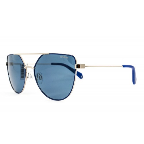 Polaroid Okulary przeciwsłoneczne damskie PLD 6057 PJPC - złoty, niebieski, POLARYZACJA